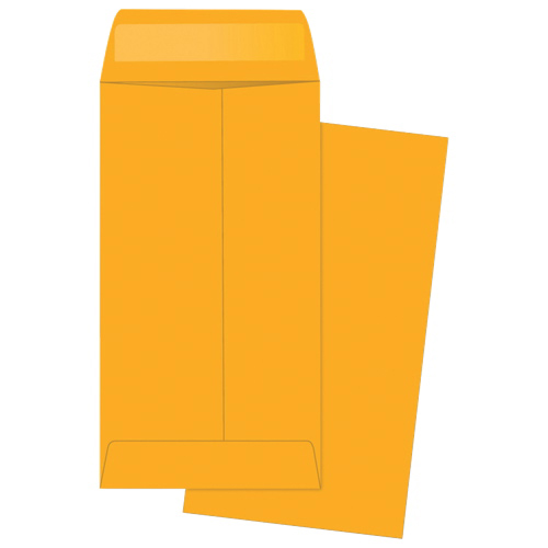"""Quality Park 6.5"""" x 3.5"""" Coin Envelope - 500 Pack - Brown"""