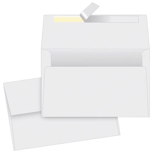 "Quality Park 4.5"" x 6.25"" Card Envelope - 50 Pack - White"