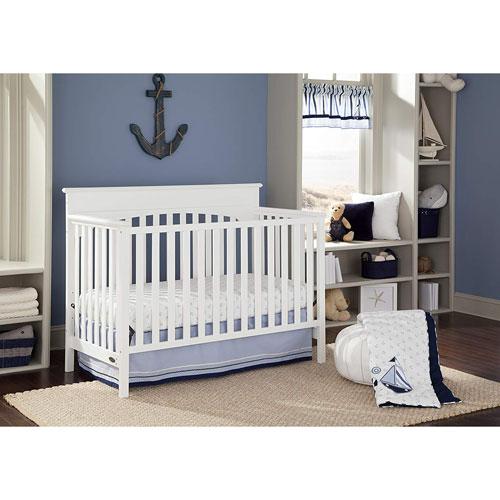 graco lauren 4in1 convertible crib white baby cribs best buy canada