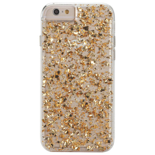 Case-Mate iPhone 6 Fitted with 24K Gold Leaf Highlights Hard Shell Case - Gold