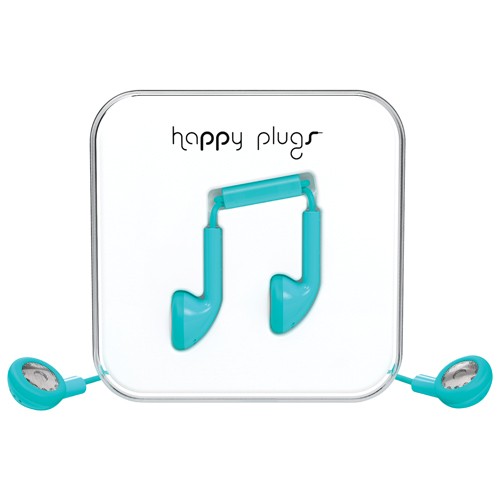 Happy Plugs In-Ear Headphones with Mic - Turquoise
