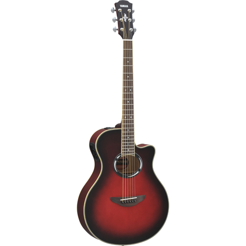 Yamaha 500 Series Acoustic Electric Hybrid Guitar (APX500III DSR) - Red
