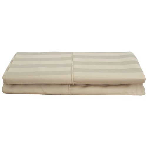 Maholi Damask Stripe Collection 310 Thread Count Pillow Case - 2 Pack - Queen - Taupe