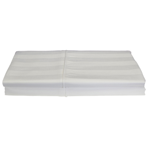 Maholi Damask Stripe Collection 310 Thread Count Rayon Pillow Case - 2 Pack - Queen - White