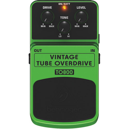 Behringer Vintage Tube-Sound Overdrive Effects Pedal (TO800)
