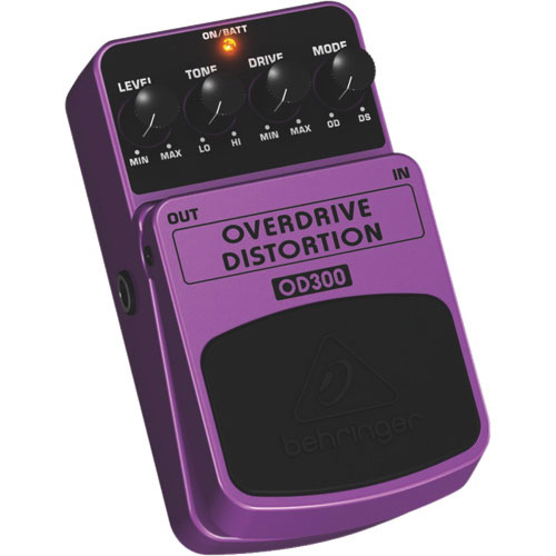 Behringer 2-Mode Overdrive/Distortion Effects Pedal (OD300)