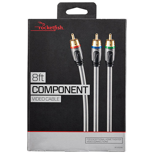 Rocketfish 2.4m (8 ft.) Component Cable (RF-G1208-C)