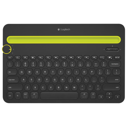 Logitech Bluetooth Multi-Device Keyboard (K480) - Black