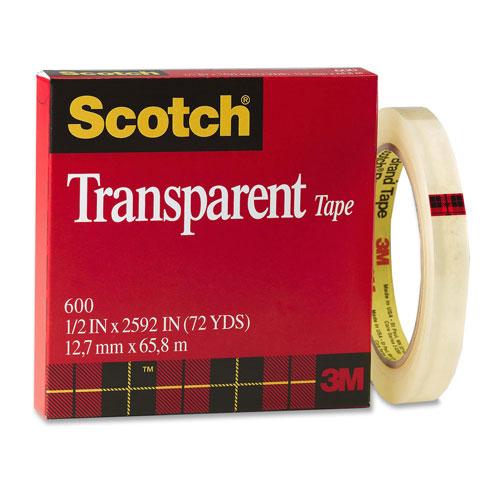 Ruban transparent lustré de Scotch (MMM60012X72)