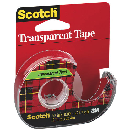 Scotch Cellulose Transparent Tape (MMM600P12M33)