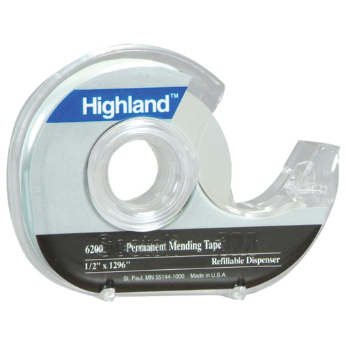 Ruban invisible permanent Highland de 3M (MMM6200P1833)