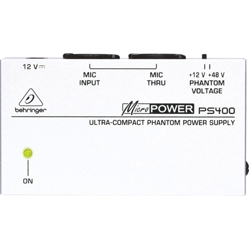Behringer Micropower Ultra-Compact Phantom Power Supply (PS400)