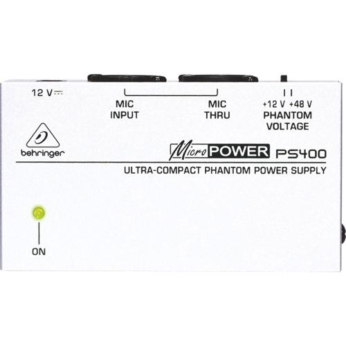 Bloc d'alimentation fantôme ultra-compact Micropower de Behringer (PS400)