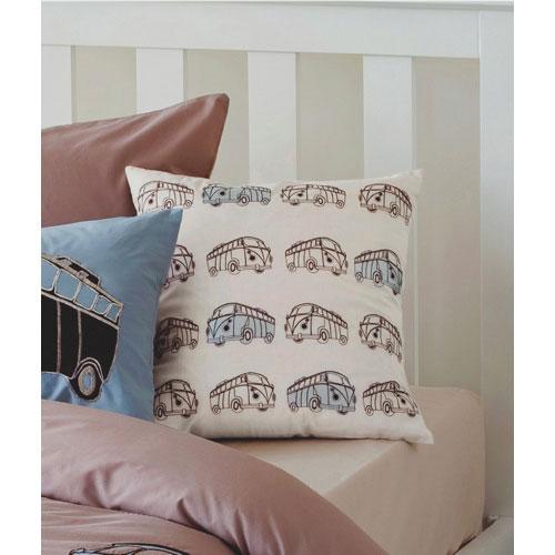 Maholi KIDS Combi Vans Collection Square Cushion - Taupe