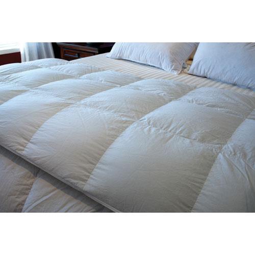 Maholi Royal Elite Collection 260 Thread Count Goose Down 4 Seasons Duvet - King - White