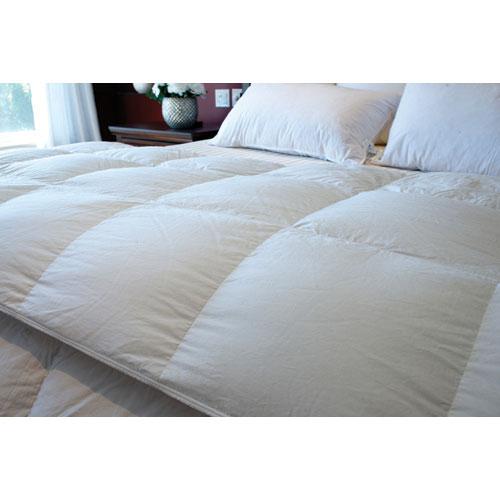 Douillette d'hiver Plus en duvet d'oie contexture de 260 Royal Elite de Maholi - Lit simple - Blanc