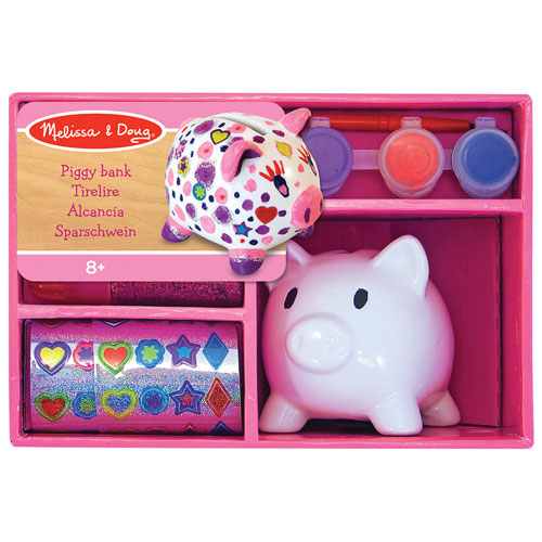 Melissa Doug Decorate Your Own Piggy Bank Jewelry Beading