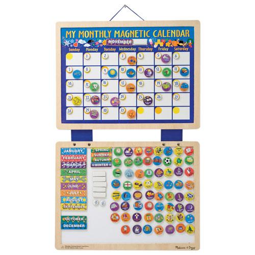 Melissa & Doug My Monthly Magnet Calendar : Educational Toys ...