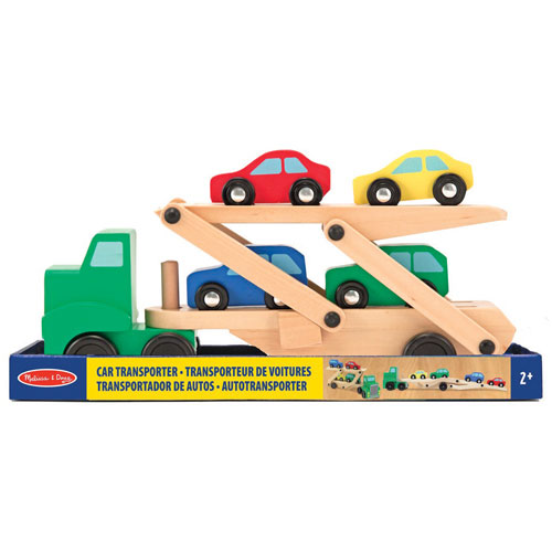 Melissa And Doug Toys : Melissa doug car carrier truck cars wooden play set