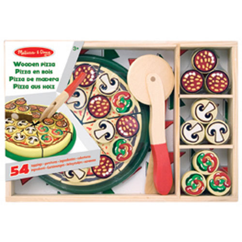 melissa & doug pizza party wooden play food : play kitchens - best
