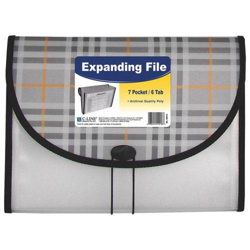 C-Line Expanding File - Letter - Black/Grey