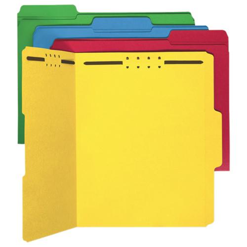 Sparco Top Tab Fastener Folder (SP17571) - Letter - 50 Pack - Assorted Colours