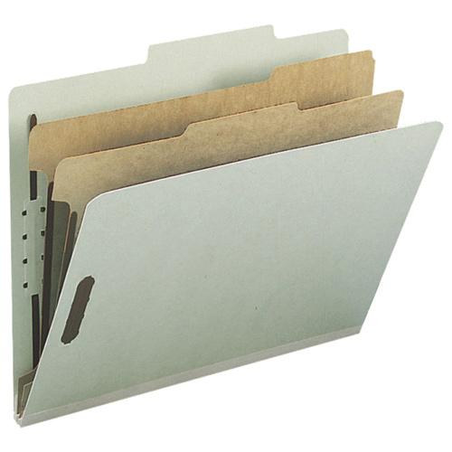 Chemise de classement à onglet supérieur de Nature Saver (NAT01057) - Lettre - Pqt 10 - Gris - Vert