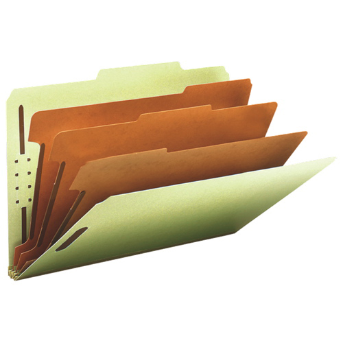 Smead Classification Folder - Legal - 10 Pack - Grey/Green