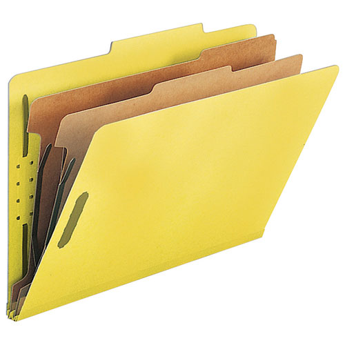 Nature Saver Top Tab Classification Folder (SP17227) - Legal - 10 Pack - Yellow