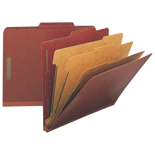 Nature Saver Top Tab Classification Folder (NAT01052) - Letter - 10 Pack - Red