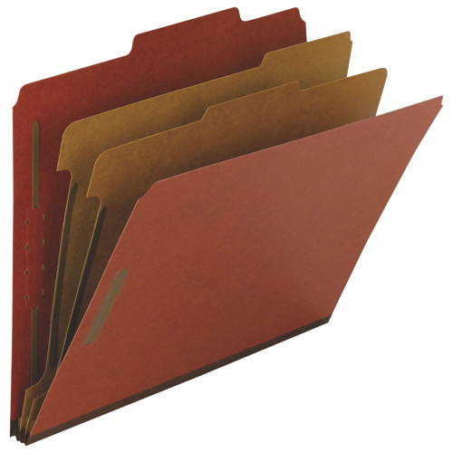 Nature Saver Top Tab Classification Folder (NAT01051) - Letter - 10 Pack - Red