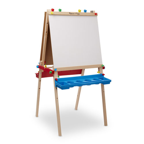 Melissa Doug Deluxe Wooden Standing Art Easel Colouring Pads