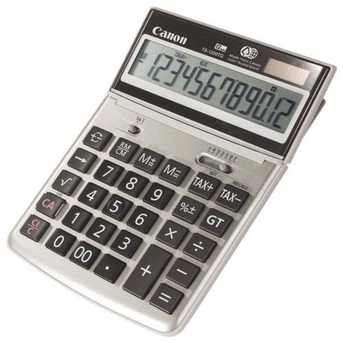 Calculatrice de bureau à 12 chiffres de Canon (CNMTS1200TG)