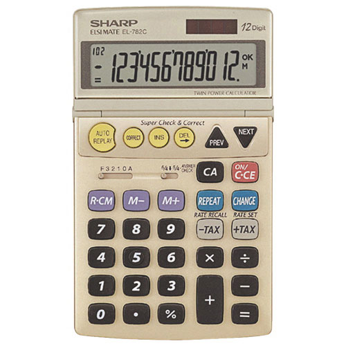 Sharp 12-Digit Semi Desktop Calculator (SHREL782CS)