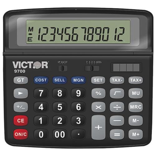 victor basic calculator vct9700 black financial. Black Bedroom Furniture Sets. Home Design Ideas