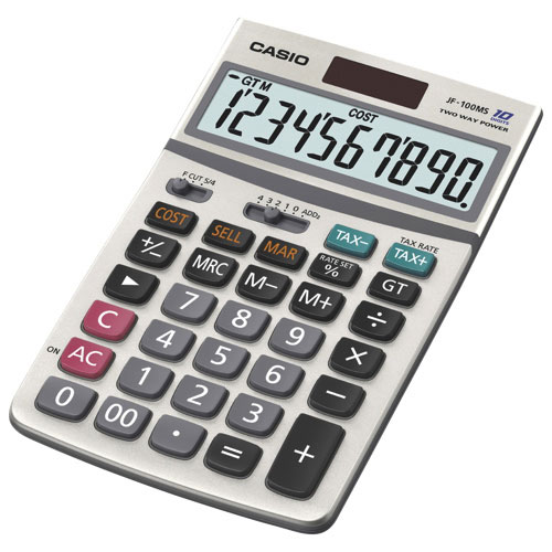 Casio 10-Digit Basic Calculator (CSOJF100MS)