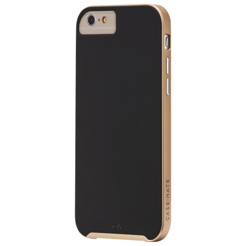 Case-Mate Slim Tough iPhone 6 Fitted Soft Shell Case - Black/Gold