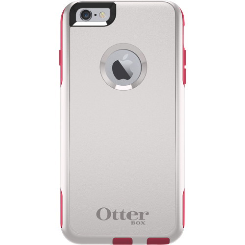 Étui rigide ajusté Commuter d'OtterBox pour iPhone 6/6s Plus - Blanc - Rose