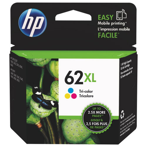 Cartouche d'encre trois couleurs 62XL de HP (C2P07AN#140)