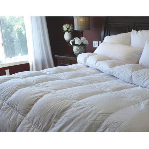 Douillette légère en duvet de canard à contexture 400 Royal Elite de Maholi - Très grand lit - Blanc