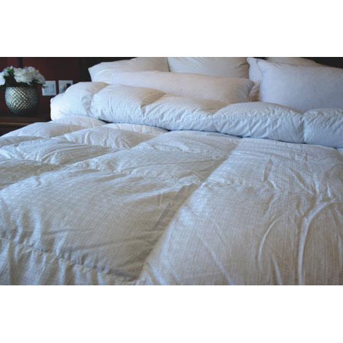 Douillette d'hiver en duvet d'oie contexture de 400 Royal Elite de Maholi - Grand lit - Blanc