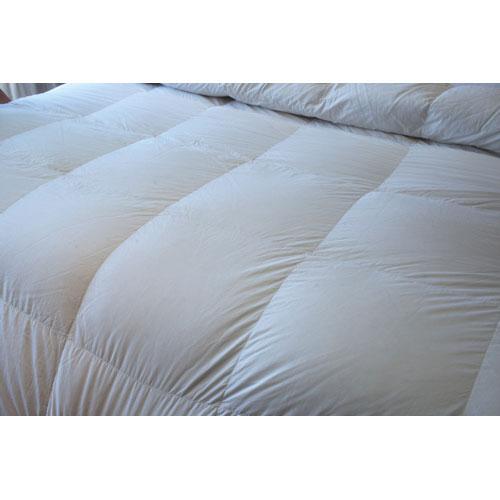 Douillette légère en duvet/laine contexture de 260 Royal Elite de Maholi - Très grand lit - Blanc