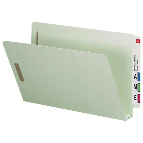"""Smead 8.5"""" x 14"""" Heavy-Duty Pressboard Folders (SMD37715) - 25 Pack - Grey/Green"""