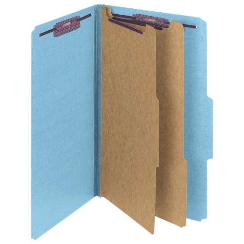 Chemises de classement de Smead (SMD19030C) - Format ministre - Paquet de 10 - Bleu