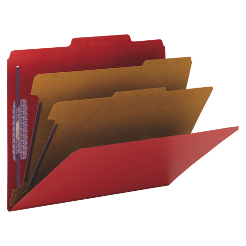 Smead SafeSHIELD Classification Folder - Letter - 10 Pack - Red