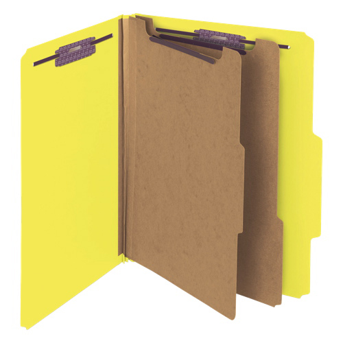 Smead SafeShield Classification Folder - Letter - 10 Pack - Yellow