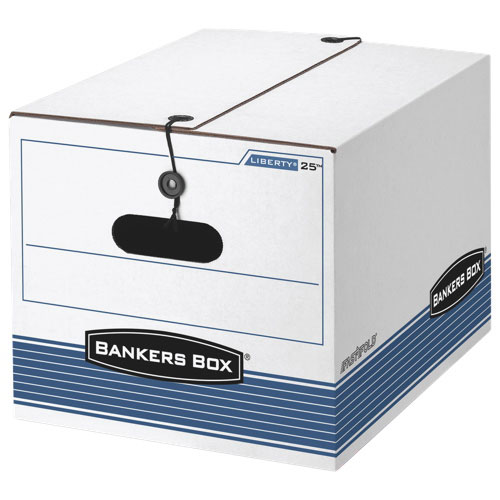 Bankers Box File Storage/Moving Box with String & Button (FEL00025C) - Legal - 12 Pack - White