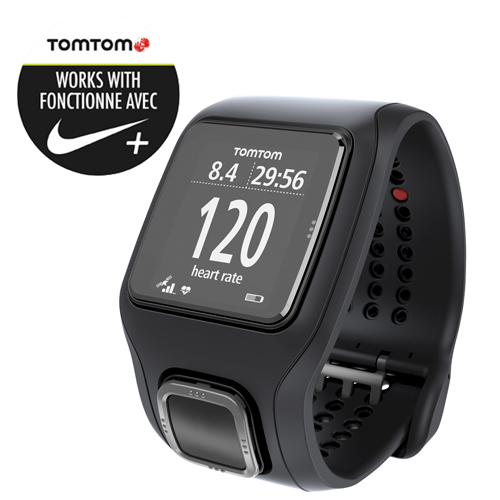 Tomtom Runner Cardio Gps Watch With Heart Rate Black Gps Watches Best Buy Canada