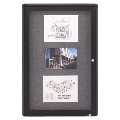 Quartet Bulletin board (QRT2363L) - Graphite Grey