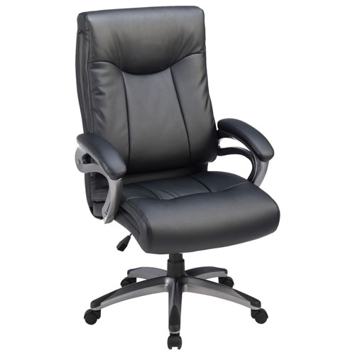 lorell ergonomic high back bonded leather manager executive chair